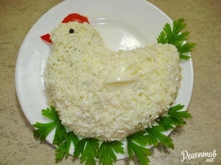 Салаты на новый год рецепты без курицы и яиц