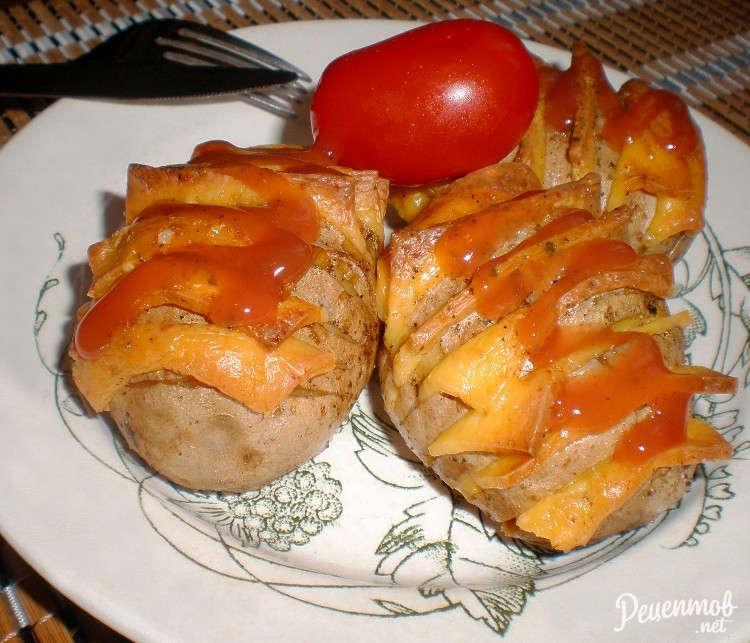 Картофель гармошка с сыром в духовке рецепт 146